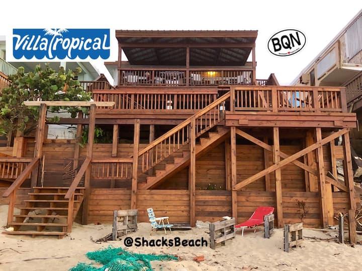 """Villa Tropical - Oceanfront 2 bdrm""""TR""""@ShacksBeach"""