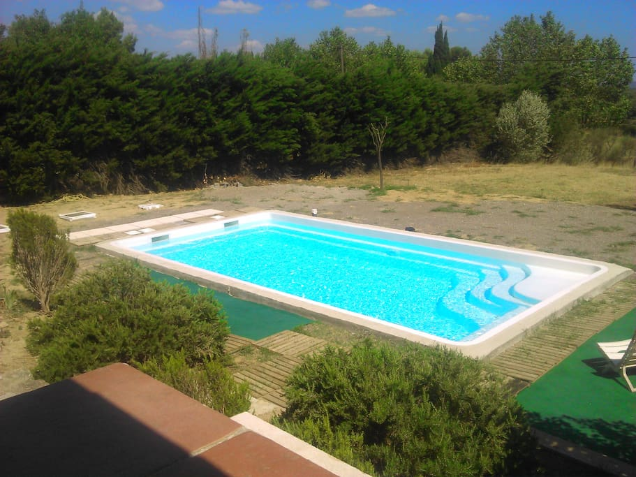 piscine ( 7 sur 3.60, profondeur 1.40) / traitement au sel