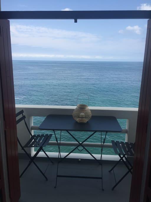 Balcon du séjour, Comme sur un bateau !