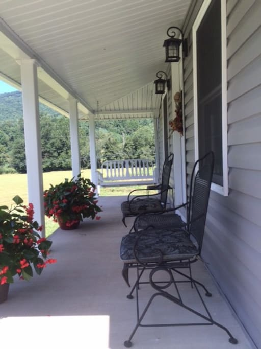 Relaxing front porch with long range views.