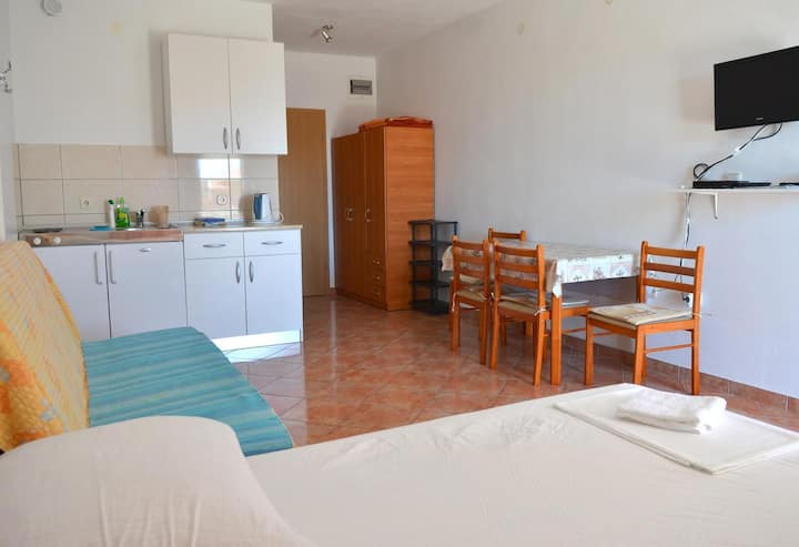 Studio flat with balcony Gradac, Makarska (AS-13681-a)