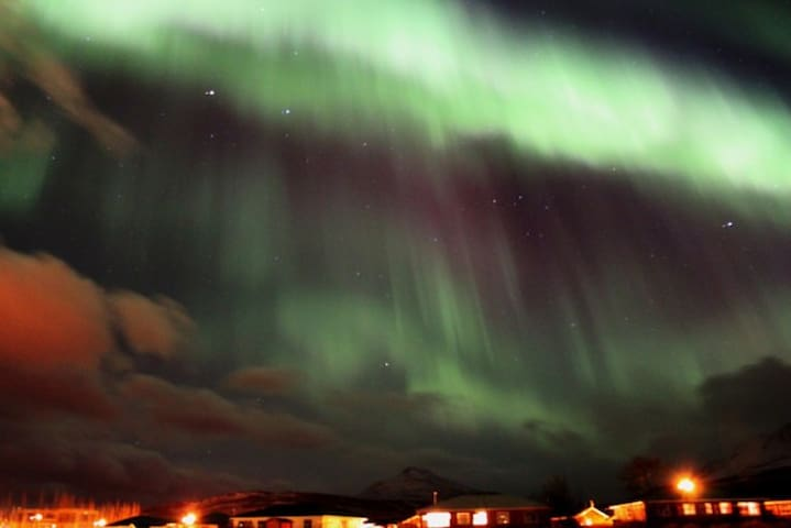 That's right - we can see the northern lights from here. They are amazing.