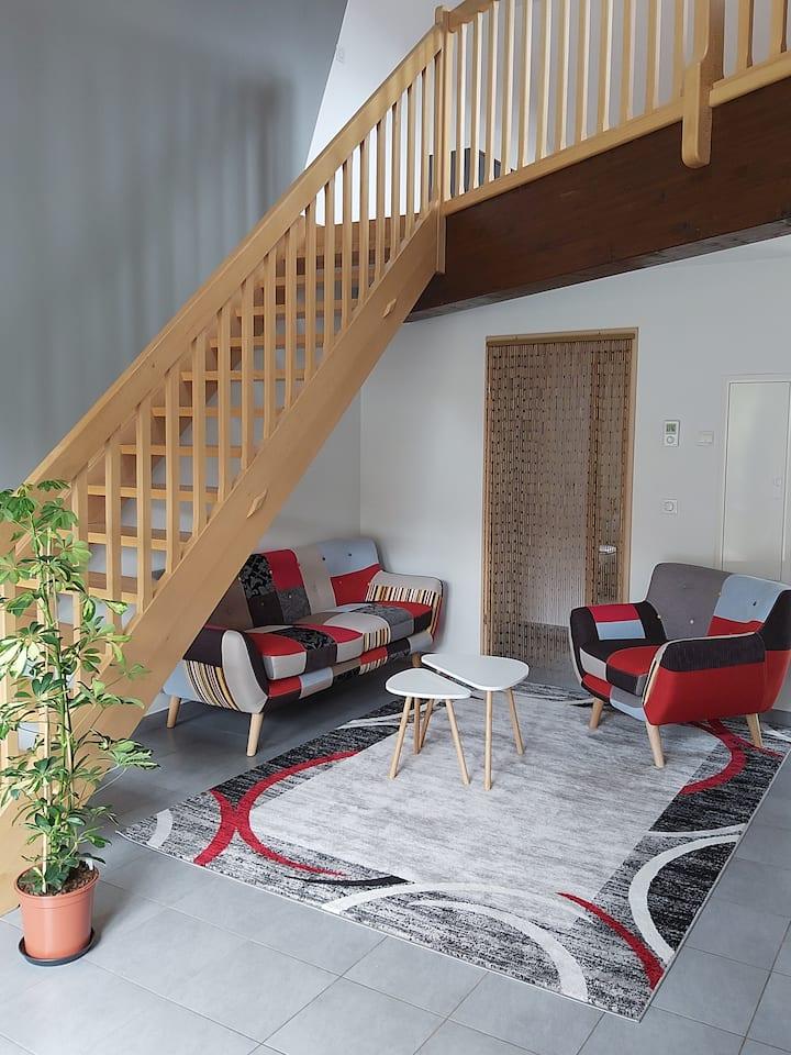 Duplex contemporain avec deux terrasses