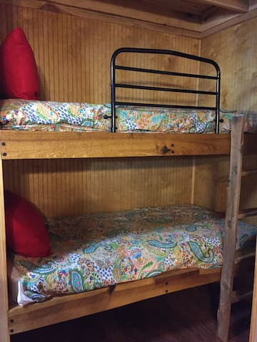 Bunk beds in living area.