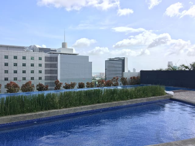 swimming pool on the 10th floor