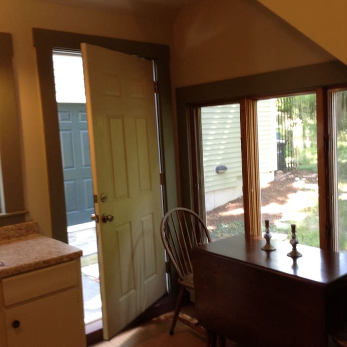 Private entrance and your kitchen.