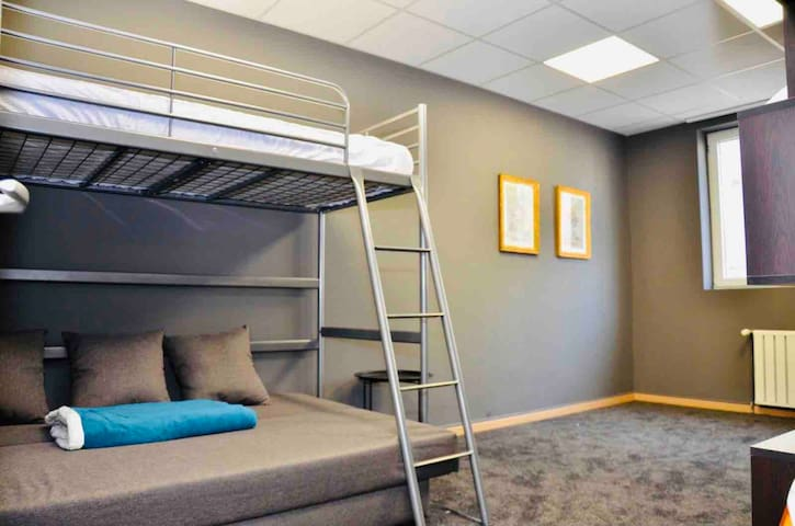 Second floor and sofa bed...