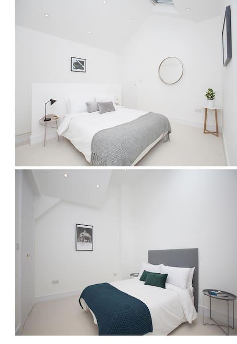 Bedroom 1 (Top) , Bedroom 2 (Bottom)