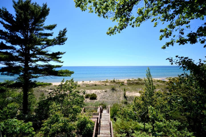 Whiskey Creek Cottage is just steps down to the private beach frontage!