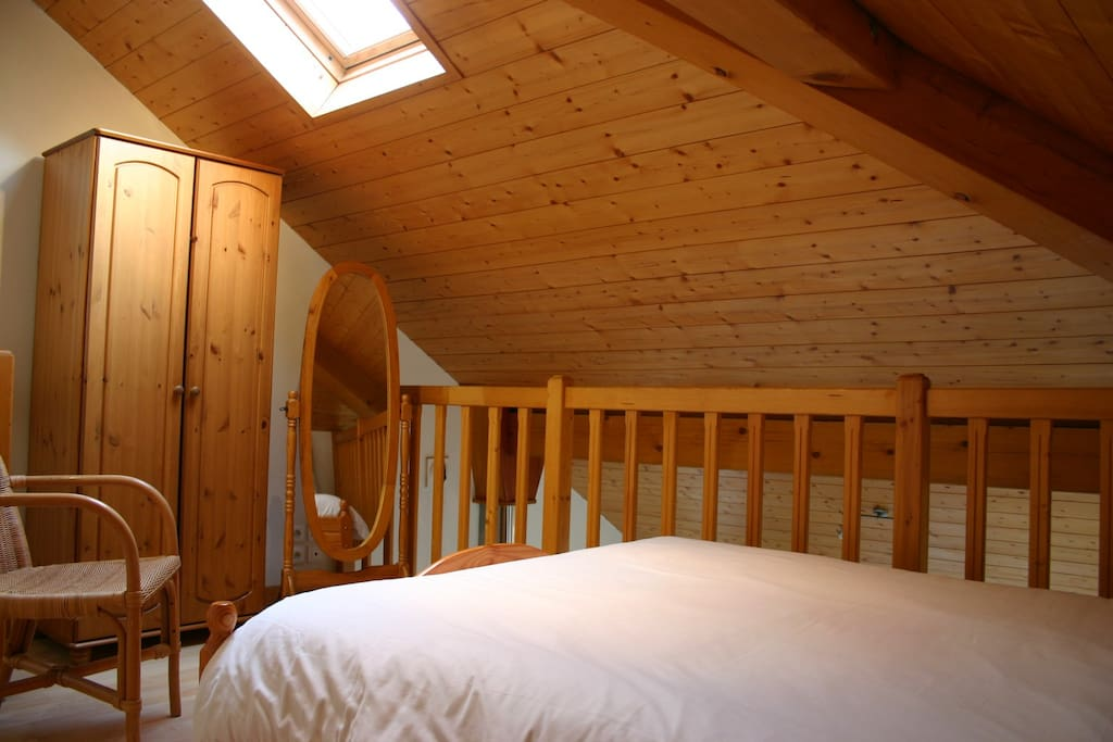 Bedroom 2, upstairs  with double bed