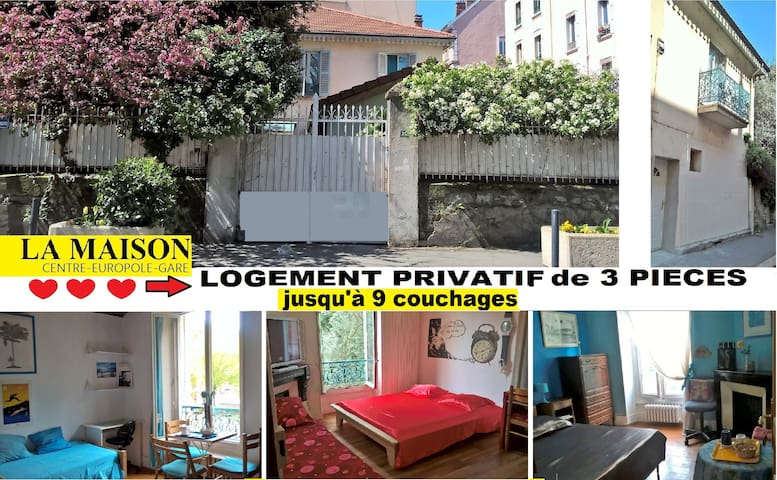 VILLA IN THE CENTER: PRIVATE HOUSING 3 rooms - Grenoble - Townhouse