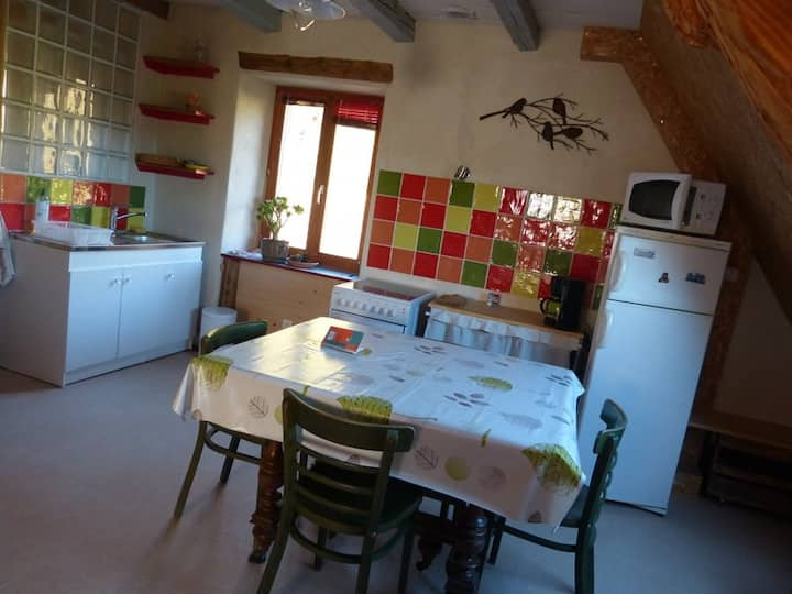 A 40 m2 loft, at the 2nd floor.