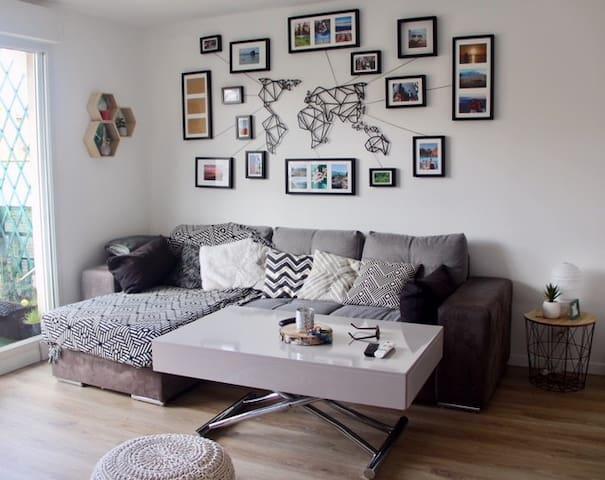 Bel appartement 2 pièces - 15 min de Paris