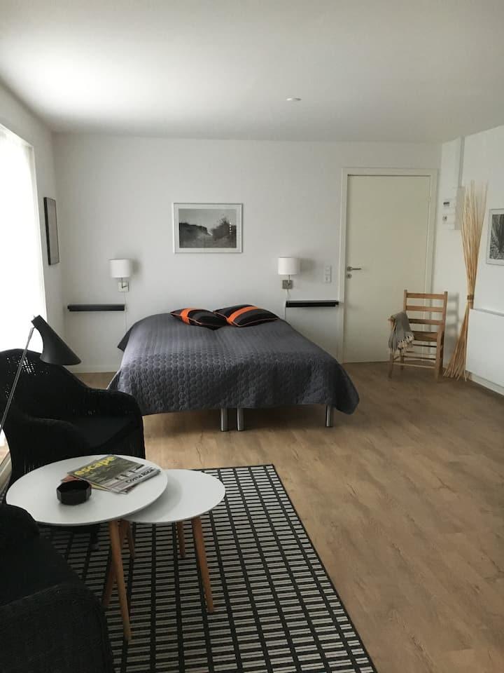 """Velbeliggende lejlighed i Skagens """"smørhul"""""""
