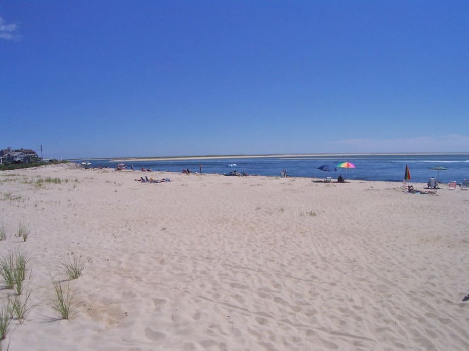 Enjoy summer breezes and warm sand on Holway/Andrew Hardings Beach, across the street