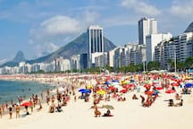 Leme beach during the day
