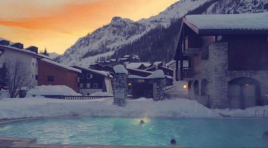 Appart 4 pers avec piscine et sauna à Val d'Isère