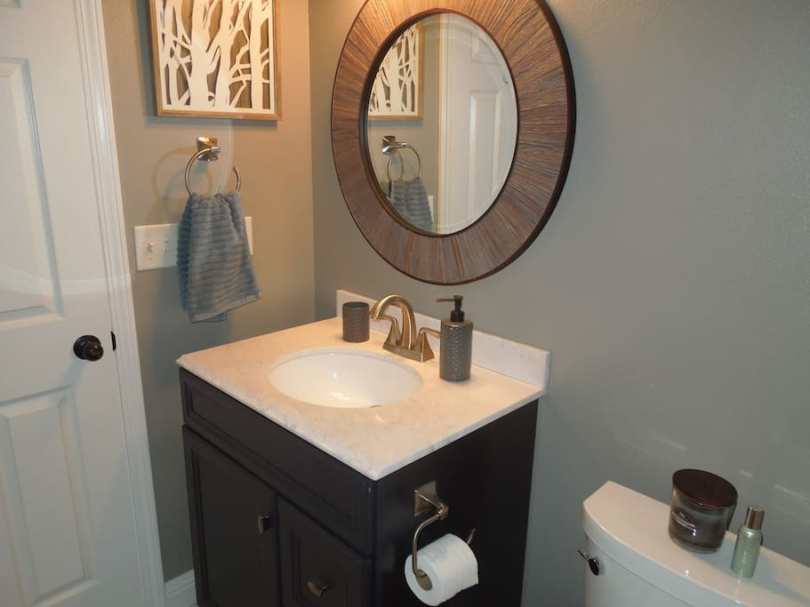 When staying at our home, you will have exclusive use of the bathroom, located right next to the bedroom.
