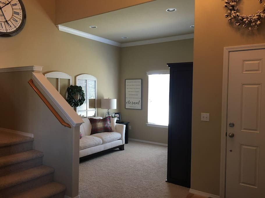 Entryway & Front Living Room