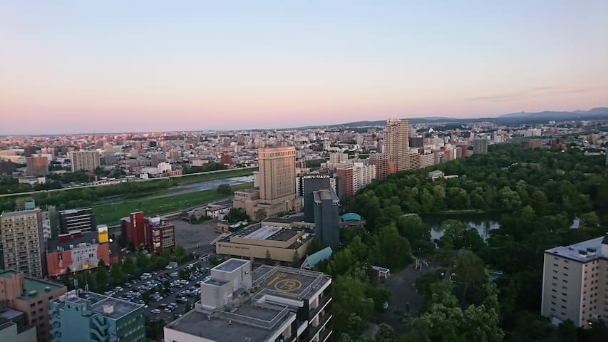 FreeWi-Fi Great location & view 札幌にもう一つの貴方の部屋を!