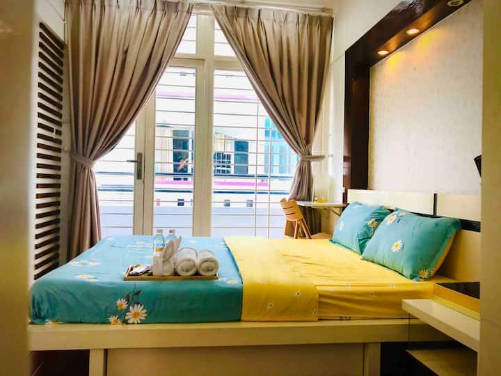 Meraki- Bright Room - 5MIN TO BUI VIEN -District 1
