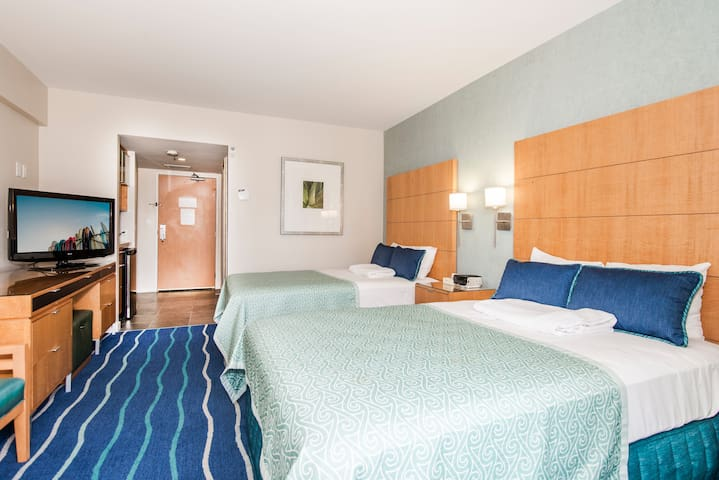 Two Double Beds, Sleeps Comfortably up to 4 Guests!