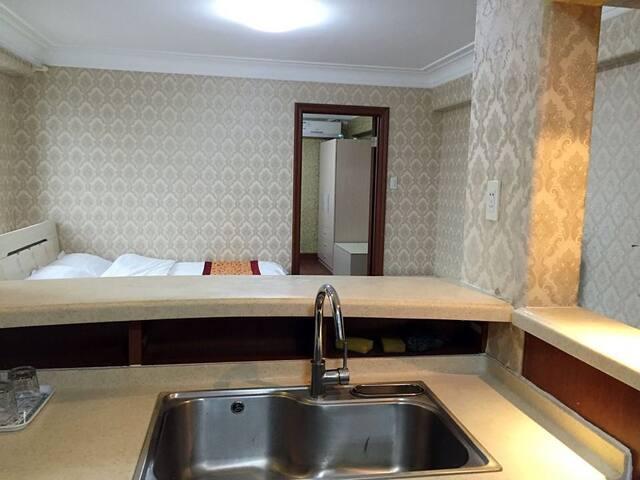 大连星海海局泊尔特酒店式公寓豪华观景家庭套房(4-6人)