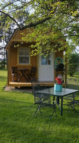 Tiny house on the shore of Lake Erie