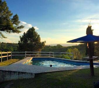 Increíble casa en medio de la montaña con vista - Villa Parque Síquiman - Talo
