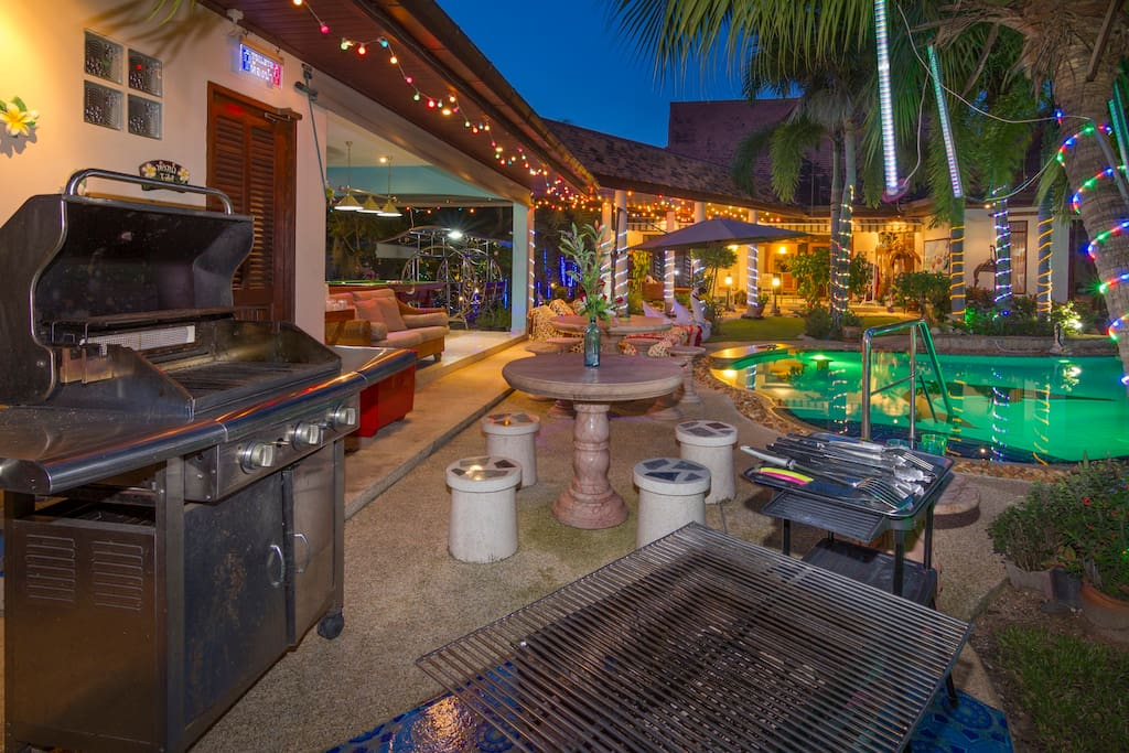 BBQ area by the pool