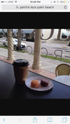 French bakery downstairs  on the veranda!!