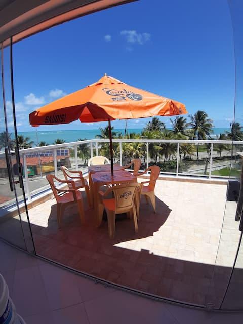 Apartamento com vista para o mar- Paripueir AL-
