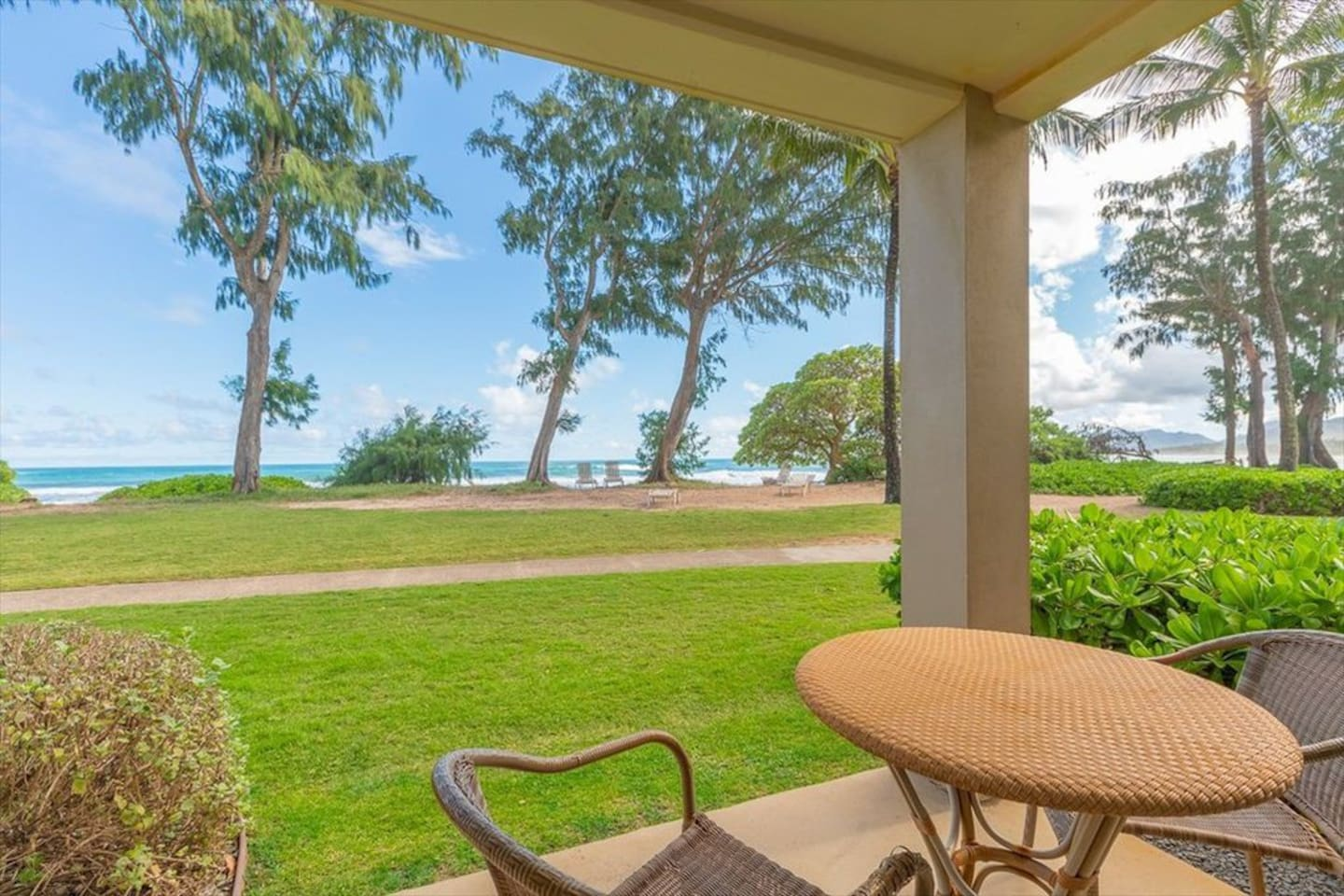 Direct Oceanfront, corner location; ground floor and no stairs to climb!