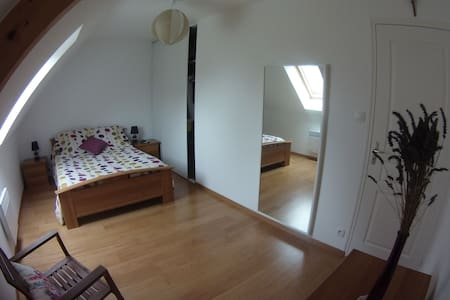 Chambre lumineuse + SdB/Wc privés - Valognes - Andere