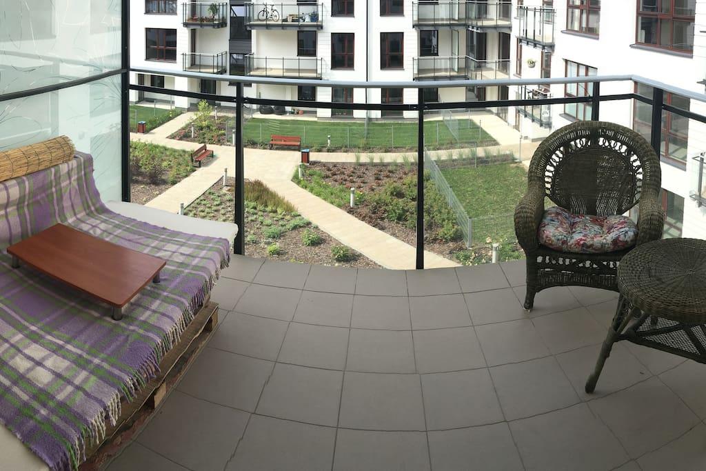 Balcony that belongs to bedroom