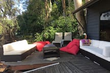 Lounge by the boat house