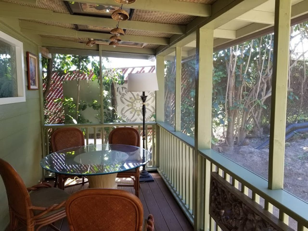 Private screened lanai to relax in