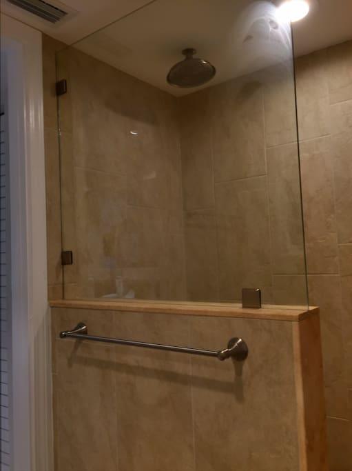New master bath shower, September 2016