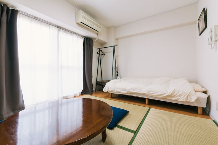 Stylish Tatami Room in Urban Oasis - Fukuoka - Apartment