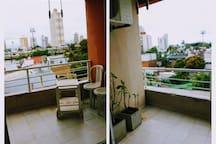 Balcón amplio y luminoso