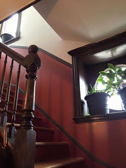 escalier pour monter à l'étage