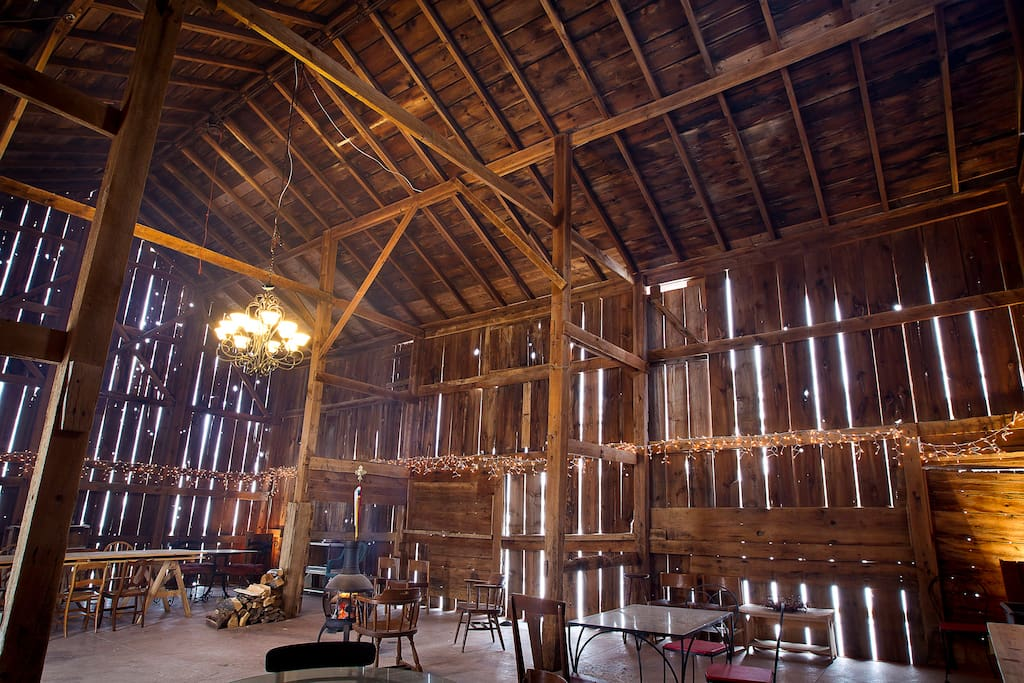 28 x 40 English Barn has cement floor.