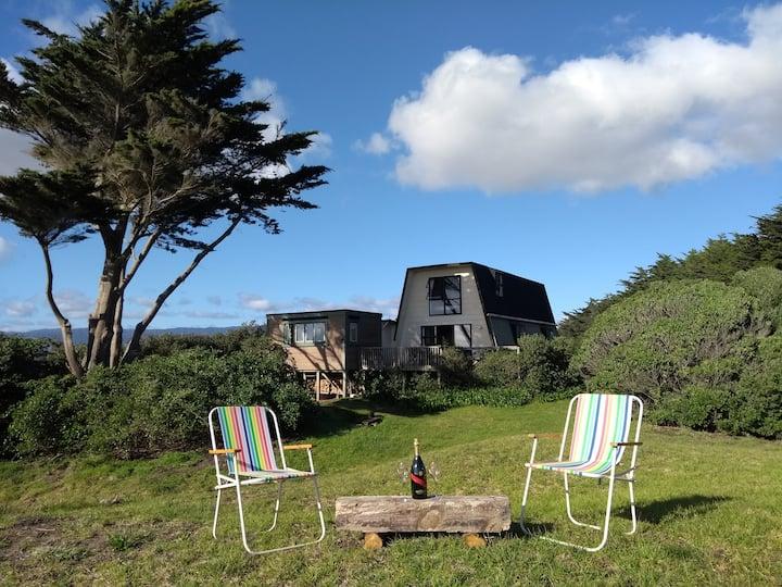 Beachfront Bliss @ The Te Horo Beach Bach