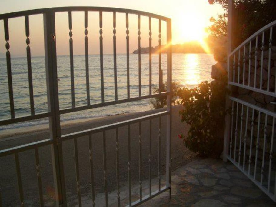 Gate to the house garden