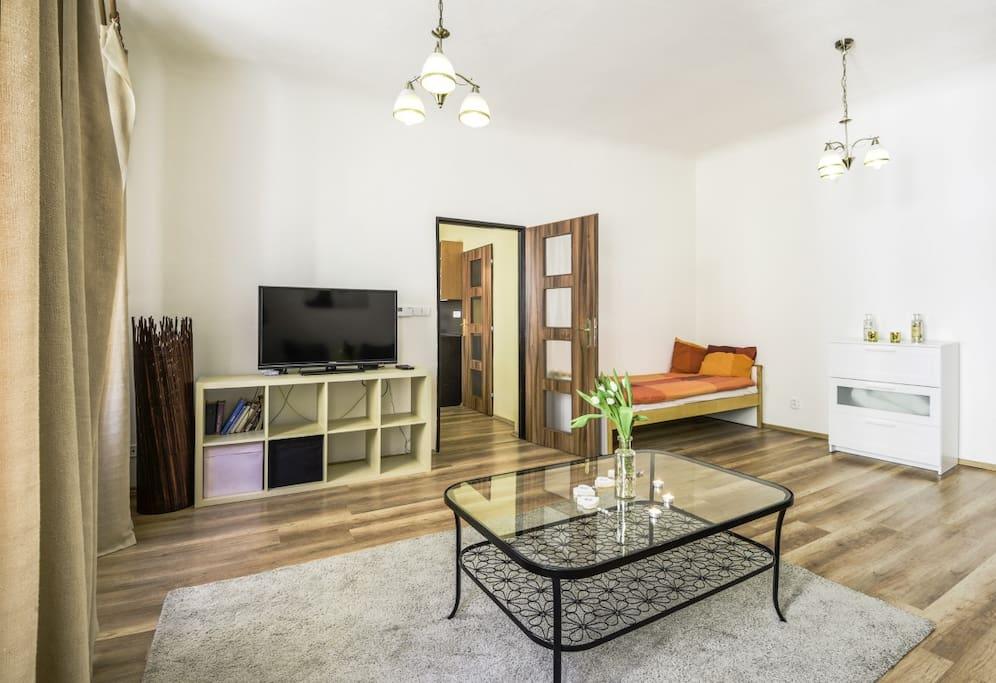 prague apartment-pragueforyou-living area