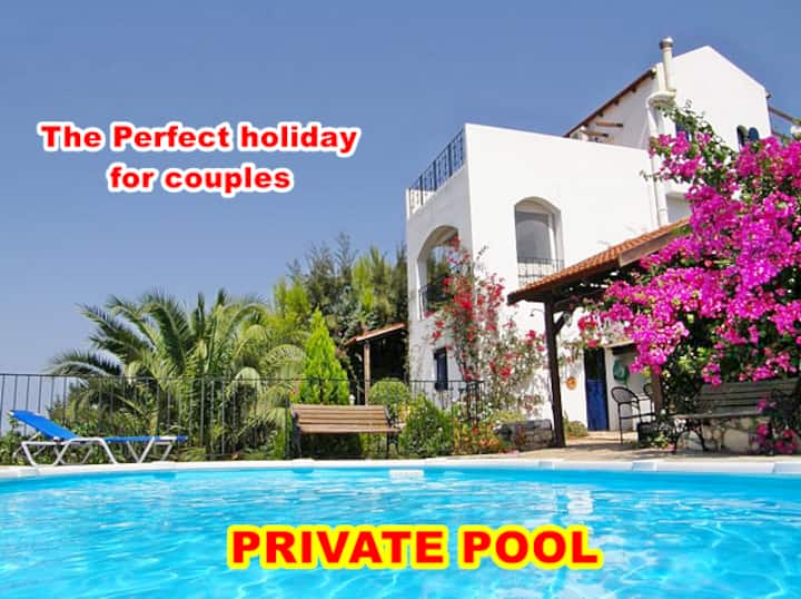 ★ Romantic Sea view Apartment with Private Pool ★