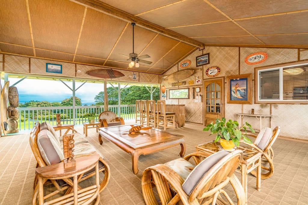 Enjoy your very own ocean view Tiki Lounge at Ola Kai Views