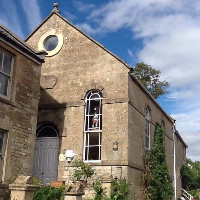 Chapel House is situated on a high pavement opposite the village school and with rural valley views.