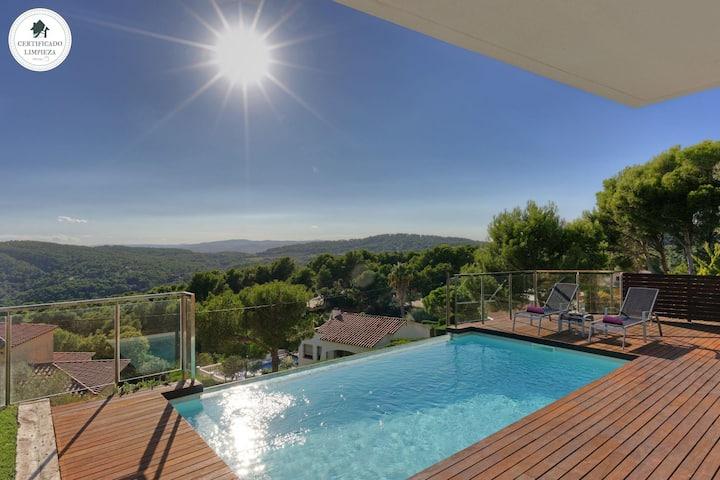 HARMONIA - Ferienhaus mit Meerblick und privatem Pool-Tamariu-Costa Brava
