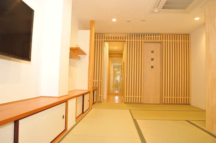Kyoto Sta. 10 mins walk;  Kids friendly